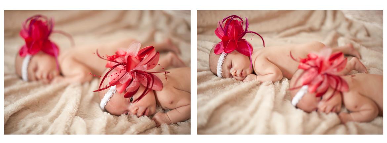 Piękna fotografia noworodkowa